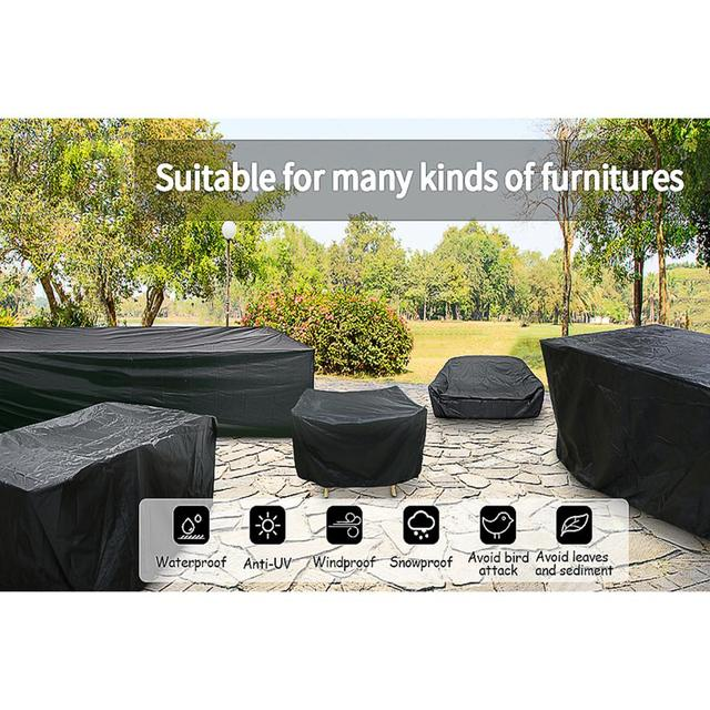 72Sizes Black Outdoor Patio Garden Furniture Waterproof Covers Rain Snow Chair covers for Sofa Table Chair Dust Proof Cover 3