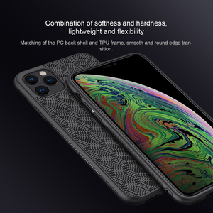 Image 4 - For iPhone 11 Pro Max Case NILLKIN plaid Synthetic Fiber Carbon PP Plastic Phone Case for iPhone 11 Pro 5.8/6.1/6.5 inch cover