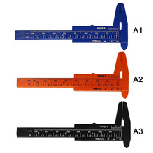80mm Mini Plastic Sliding Vernier Caliper Aperture Depth Diameter Measure Tools DIY Woodworking Plumbing Tool Ruler Micrometer