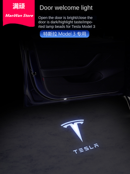 For Tesla Model S Tesla Model 3 X Y Led Car Door Welcome Light Logo Projector Laser lamp Ghost Shadow Door light Accessory