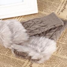 Gloves Mitten Hand-Arm Warm Winter Women Autumn Short Fashion Long 1-Pair Faux-Fur Plush