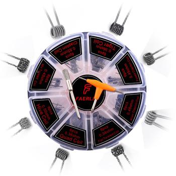 Oryginalna 8 w 1 wstępnie wbudowana cewka cewka clapton Alien Tiger Hive Quad płaskie skręcone stopiony przewód grzejny dla Vape DIY Premade alien Coil tanie i dobre opinie Wstępnie utworzonych Cewki XFKM 8 in 1 clapton coils Metal DIY RDA RTA DIY RDA RTA atomizer