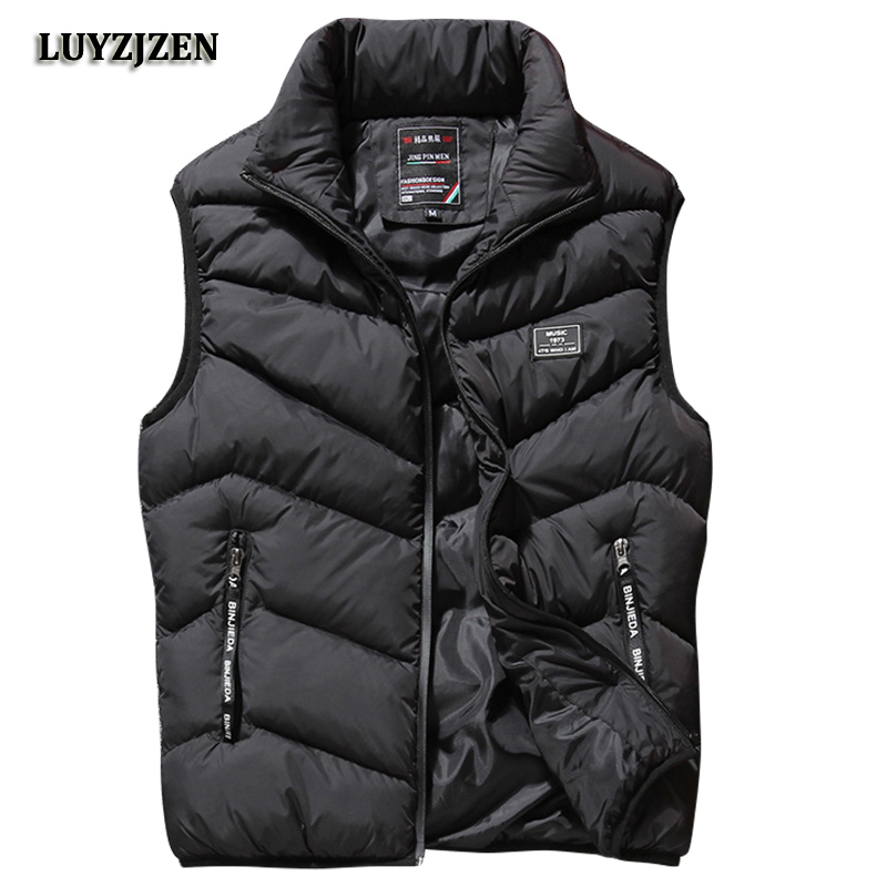 L-8XL Sleeveless Vest Men Spring Autumn New Fashion Casual Coats Male Cotton-Padded Men's Vest Male Jacket Thicken Waistcoat K88