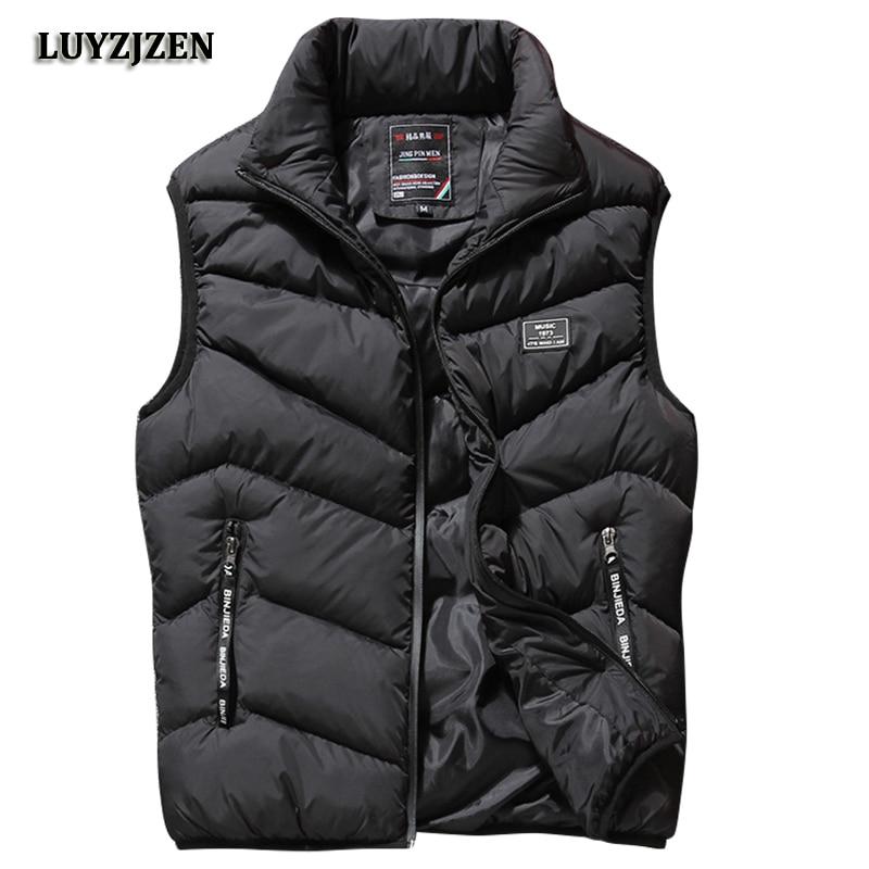 L-8XL Sleeveless Vest Men Spring Autumn New Fashion Casual Coats Male Cotton-Padded Men's Vest Male Jacket Thicken Waistcoat K88