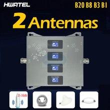 Répéteur 4g quadribande pour réseau de téléphonie mobile, avec antenne Omni B20 b8 b3 b1, 800/900/1800/2100 MHZ, LTE, 360 degrés