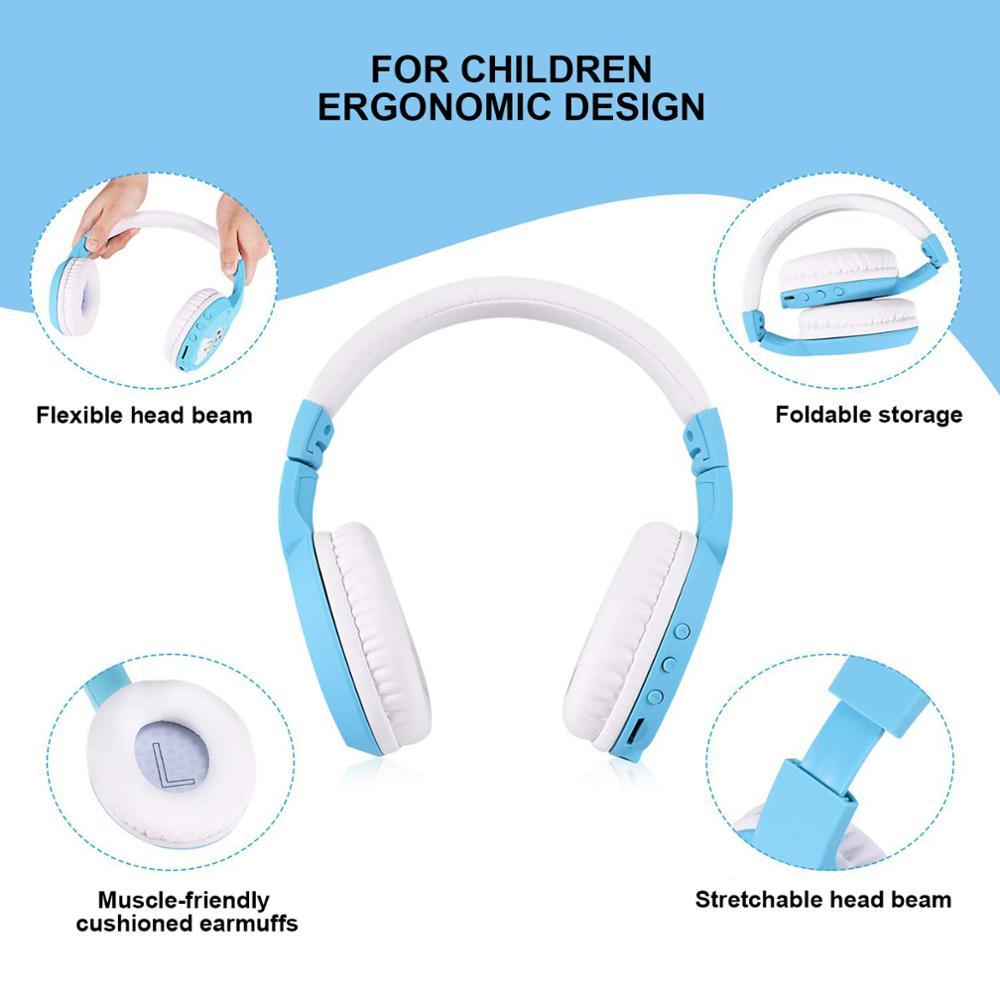 Kinderen Draadloze Headset Bt 5.0 Kinderen Leren/Entertainment Met Microfoon Opvouwbaar Bluetooth Hoofdtelefoon MP3 Muziek 3