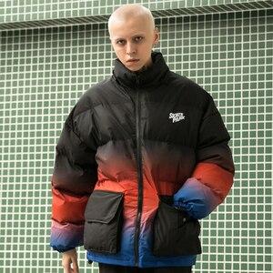 Image 5 - Aelfric Eden Hip Hop Gradiente Rimovibile Mens Con Cappuccio Parka casual Caldo Imbottito Giacca Cappotti 2019 Harajuku Giacca A Vento Streetwear