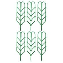 6Pcs/set Flower Leaf Vines Plastic Trellis Garden Climbing Plant Pot Support Rack for Vegetable Vining Plants - Green