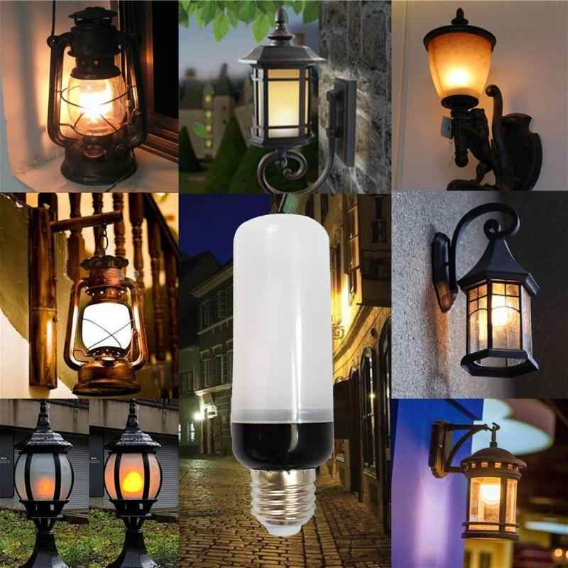 E27 lámparas LED de llama bombillas LED bombilla de fuego 220V 110V Led efecto de bombilla de fuego parpadeo emulación Llama luz lámpara Navidad nuevo