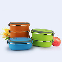 Multilayer Thermal Lunch Box Bento Lunchbox Solid Bowls Stainless Steel Food Container Kitchen Dinnerware Heated Storage Kids|Lunch Boxes| |  -