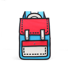 3D Stereo Junior Piece Lin Miaomiao's Girl Heart Bookbag women backpack school bags for teenage girls(China)