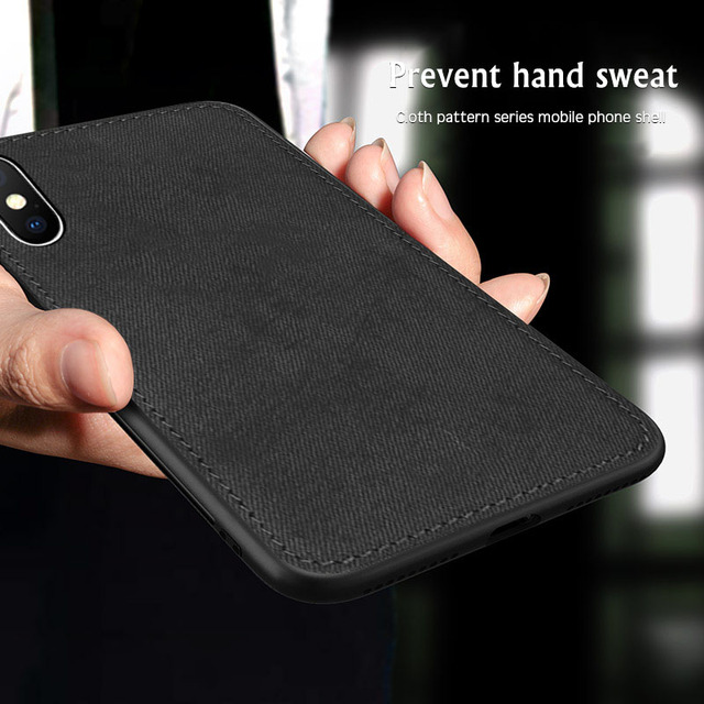 New Fabric Ultra thin Canvas Silicon Case For iphone 7 8 6 6s Plus 11 Pro