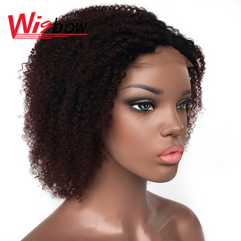 цена на Short curly wig for women 4x4 lace closure wig brazilian human hair wigs cheap kinky curly wig womens wig with free shipping