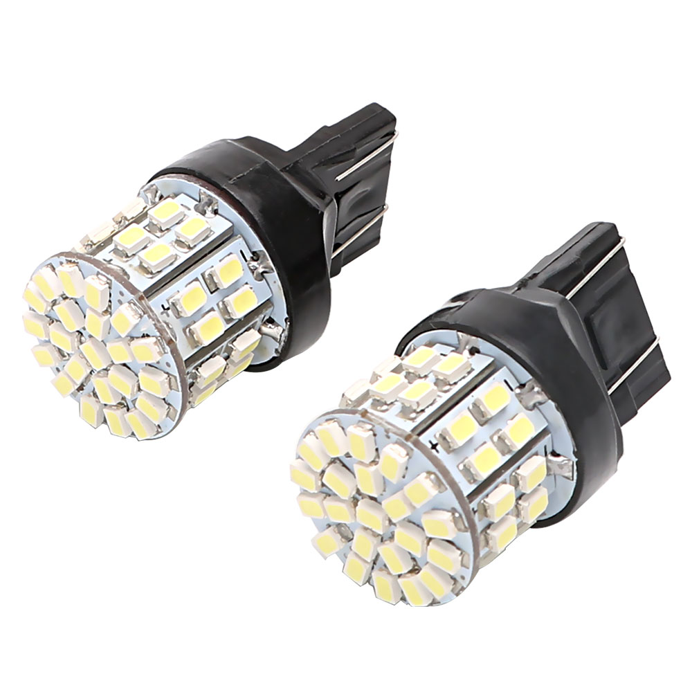 1 Pair Car <font><b>LED</b></font> Brake Light W21/5W 50SMD Auto Turn Signal Lamp Backup Reserve Lights <font><b>T20</b></font> 7443 Stop <font><b>Rear</b></font> <font><b>Bulb</b></font> image