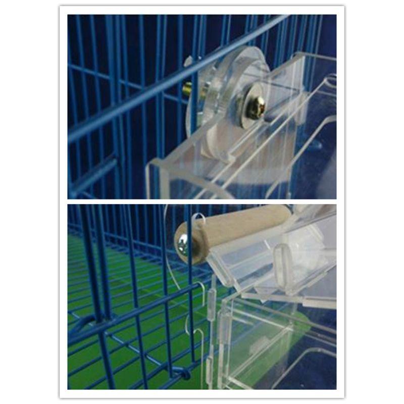 Mangeoire pour oiseaux Portable cage Transparent perroquet canari oiseau boîte Pigeon fournitures cage accessoires alimentation dispositifs pour extérieur 85WC