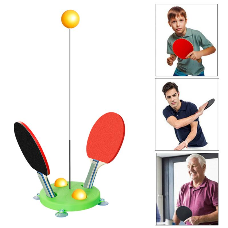 Hot Sales Portable Table Tennis Trainer Table Tennis Soft Shaft Training Machine Elasticity Kid Adult Ping Pong Practice Trainer