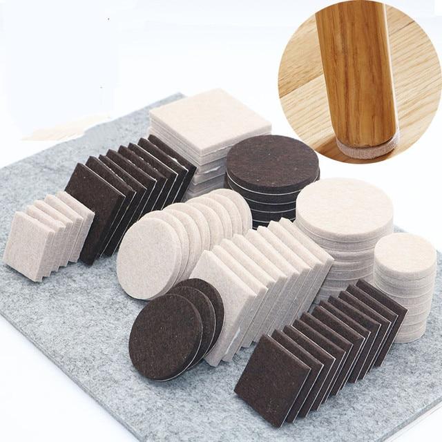 18-128pcs Chair Table Leg Felt Pads Self Adhesive Floor Scratch Protector Mute Non-slip  Feet Mat DIY Furniture Accessories