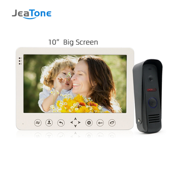 JeaTone 10 Color Touch Key Monitor Video Doorphone Intercom IR Night Vision Camera Video Doorbell Villa Intercom System Kit 1v1 redeagle 7 inch video door phone intercom system 940nm ir night vision doorphone doorbell camera 110 degree wide angle