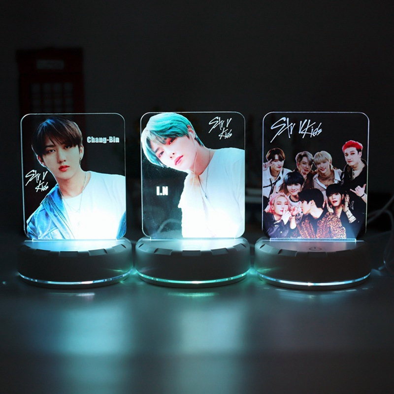 Led-Stand Stationery Fans Acrylic Stray Kids Kpop Collection Gift for Desktop-Display