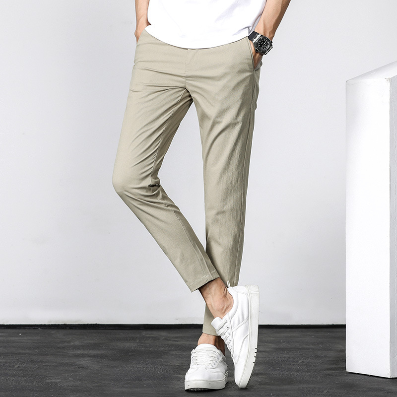 Ultra-Thin Casual Quick-Dry Capri Pants Men's Outdoor Sports Casual Pants Breathable Viscose Handsome Men'S Wear Korean-style 9