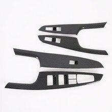 Panneau d'accoudoir de voiture en Fiber de carbone, garniture de fenêtre, panneau de levage, style Hyundai Tucson 2015 2016 2017 2018 2019