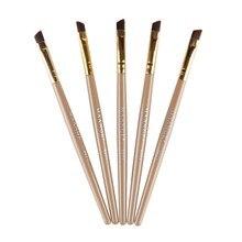 Eyebrow Beauty Makeup Pro Brushes Eyebrow Brush + Eyebrow Comb Double-Ended Eyelash Brushes Tool Cosmetic Brushes цена