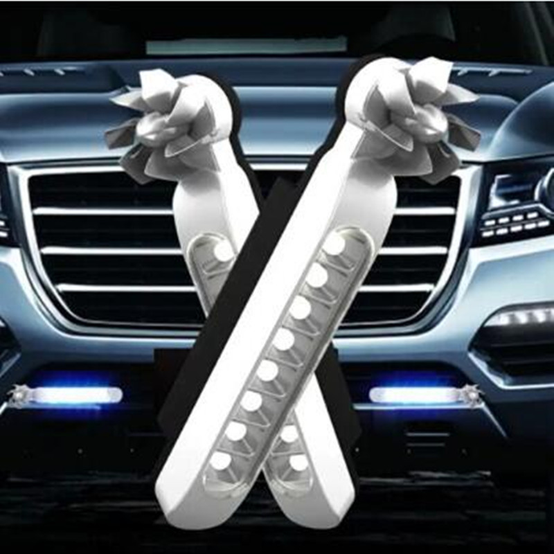 2pc LED Wind Powered Daytime Running Lights Auto <font><b>Accessories</b></font> for <font><b>Mercedes</b></font> <font><b>Benz</b></font> A180 A200 A260 W203 <font><b>W210</b></font> W211 AMG W204 C E S CLS image