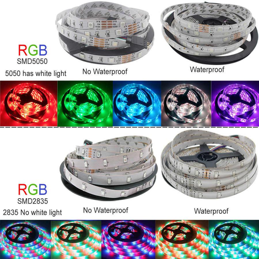 Luzes de tira conduzidas bluetooth 20m rgb 5050 smd fita flexível impermeável rgb led luz 5m 10m fita diodo dc 12v bluetooth controle