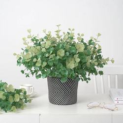 Artificial Plants Eucalyptus Grass Plastic Ferns Green Leaves Fake Flower Plant Wedding Home Decoration Table Decors