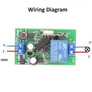 Image 3 - 433MHz العالمي لاسلكي للتحكم عن بعد التبديل التيار المتناوب 85 فولت 250 فولت 3 العصابات rf وحدة الاستقبال التتابع مع جهاز إرسال بسلسلة مفتاح للضوء