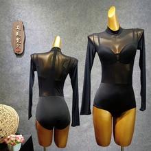 bodysuit for women ballroom dance top Latin leotards for dance female dirty dancing clothes dance lingerie jumpsuit dance