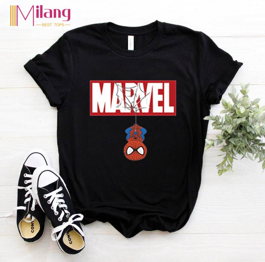 Women Marvel Spiderman black t-shirts Girl short sleeve Tees Female 2020 Summer Brand Clothing Girl Tops