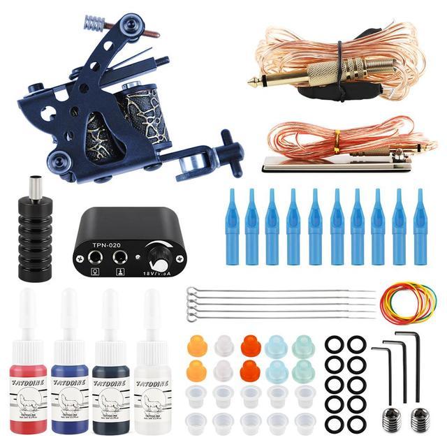 Tattoo Kit 2 Tattoo Machines Gun 20pc Ink Power Supply Tattoo Grips  Body Art Tools Complete Tattoo Set Accessories Supplies