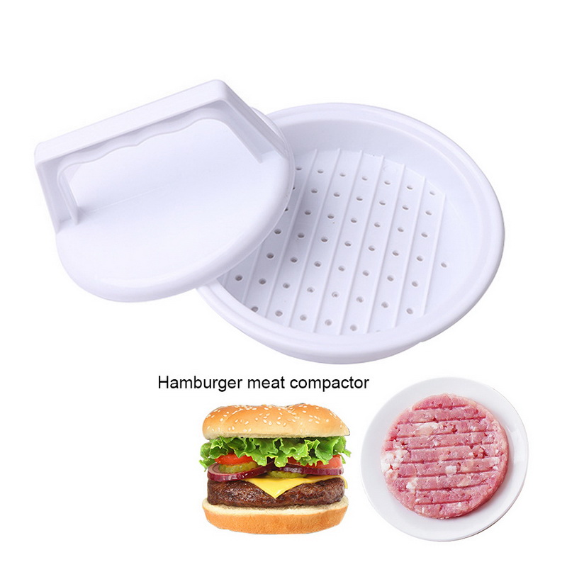 DIY Hamburger Meat Press Tool Food-Grade Plastic Makers Meat Burger Maker Mold Hamburger Press Burger Kitchen Tool#15