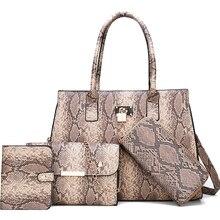 fashion Women Shoulderbag 2019 The new bag PU leather luxury bag ladies snake print Fashion Handbag Crossbody bag brand SZHIY
