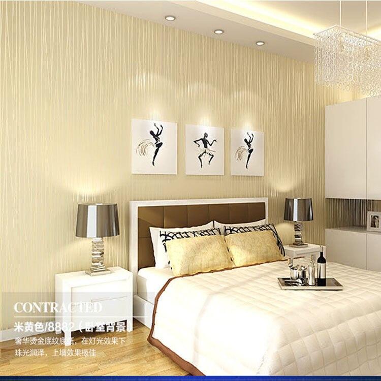 Modern Minimalist Stripes Wallpaper Bedroom Warm Non-woven Wallpaper Restaurant Living Room Television Background Wall Wallpaper