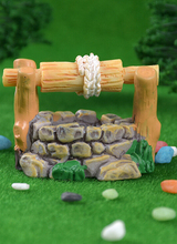 Miniature Model Resin Simulation Water Well Pool Garden Decoration Fairy Landscape Pegs Interesting Home Decoration Accessories outdoor garden decoration garden decoration simulation animal creative home landscape decoration resin crafts raccoon