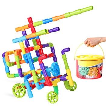 242 Uds., pipa de DIY para niños, bloques de construcción, rompecabezas, juguete para armar, bloques de mármol, juguetes para niños, regalos de navidad 2019