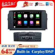 Android10.0 4G + 64GB gps para coche reproductor Multimedia para Mercedes Benz W204 C200 C180 2007 2010 navegación GPS reproductor multimedia dsp