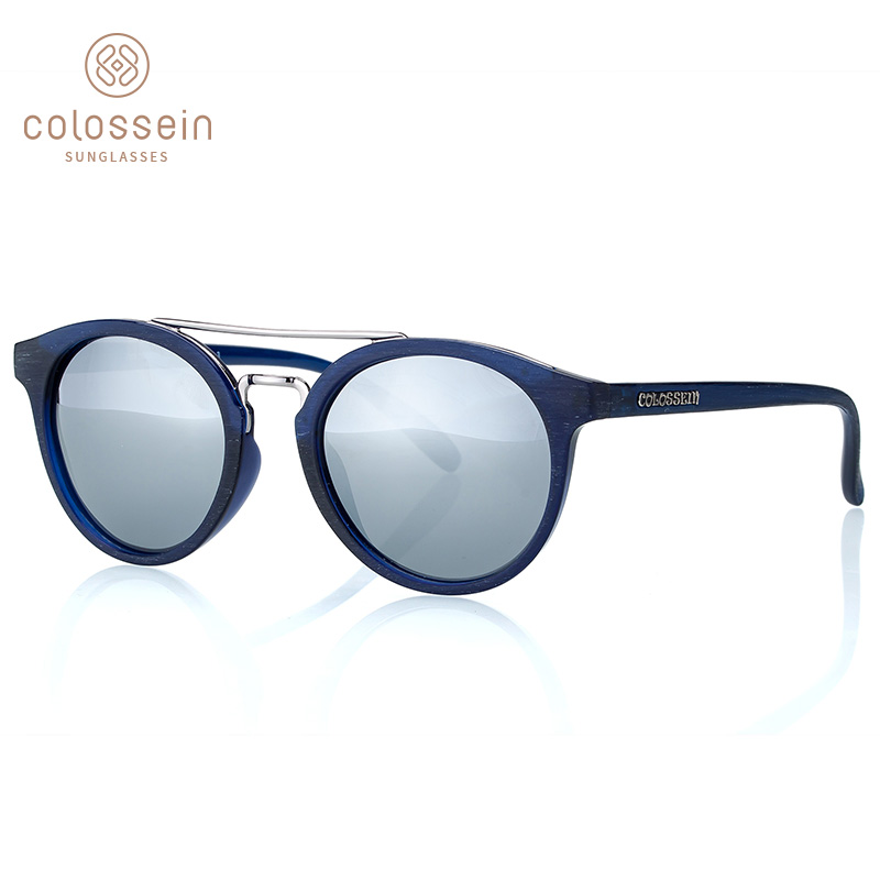 COLOSSEIN Sunglasses For Women Polarized Oval Cat Eye Sun Glasses Mirror Retro Round Lens Classic Black Popular Eyewear UV400