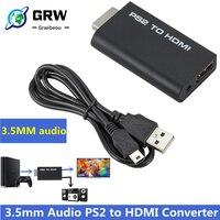Tragbare PS2 zu HDMI 480i/480p/576i Audio Video Converter mit 3,5mm Audio Ausgang Unterstützt Alle PS2 Display Modi PS2 ZU HDMI