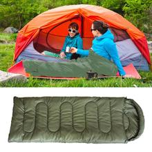 Buy Camping Sleeping Bag with Cap Lightweight 1kg Spring Autumn Zip Envelope Backpacking Sleeping Bag for Outdoor Traveling Hiking directly from merchant!