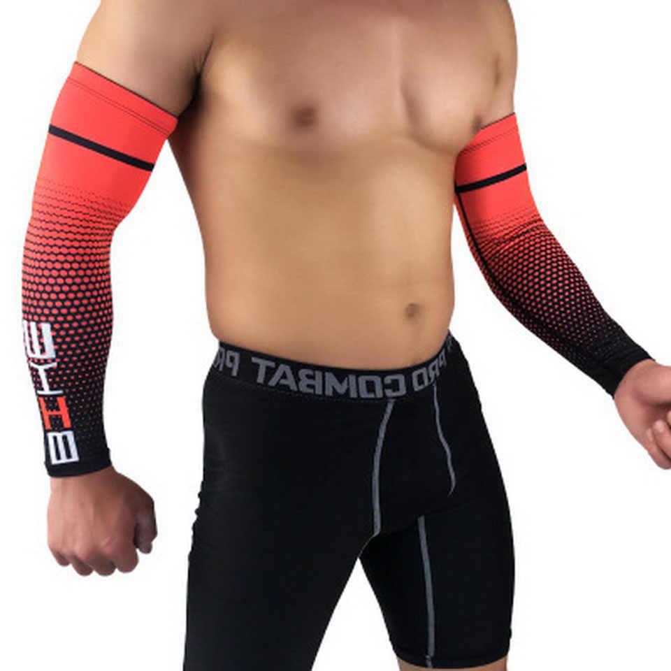 1 para kolarstwo rękawy naramienne Sport słońce ochronna UV mankiet koszykówka Arm Warmer Manguitos Ciclismo Brazo Hombre rękawy naramienne