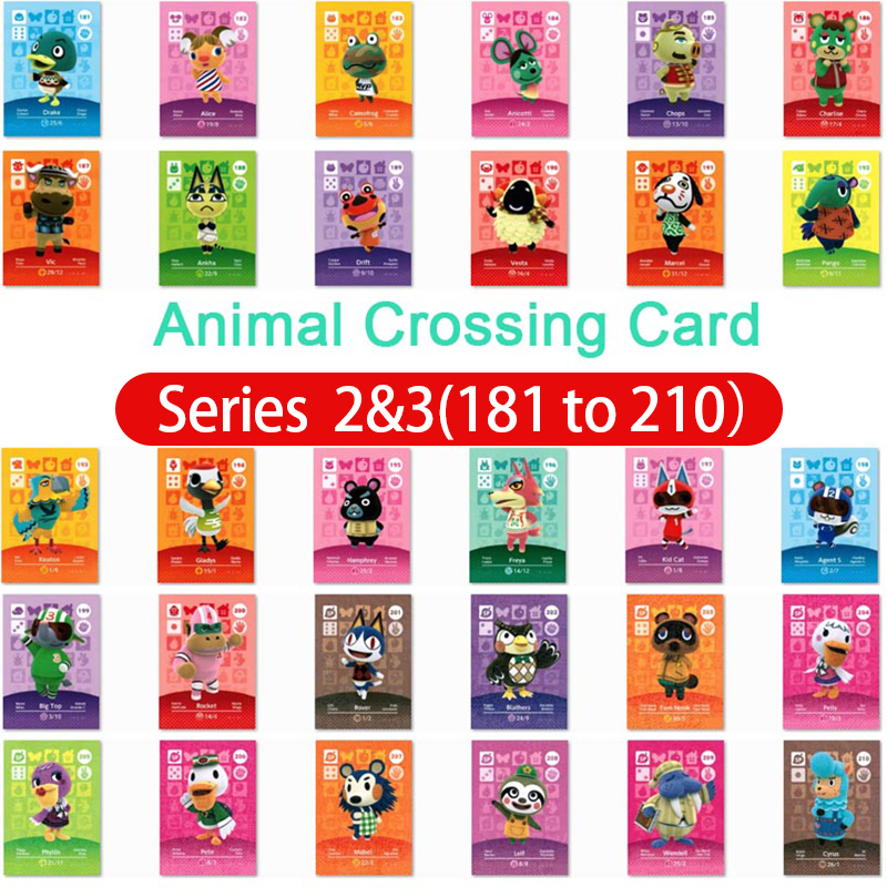 Animal Crossing Amiibo Card Amiibo Card Animal Crossing Series 2 /3 Nfc Card 181 To 210 Work For Ns Games Dropshipping