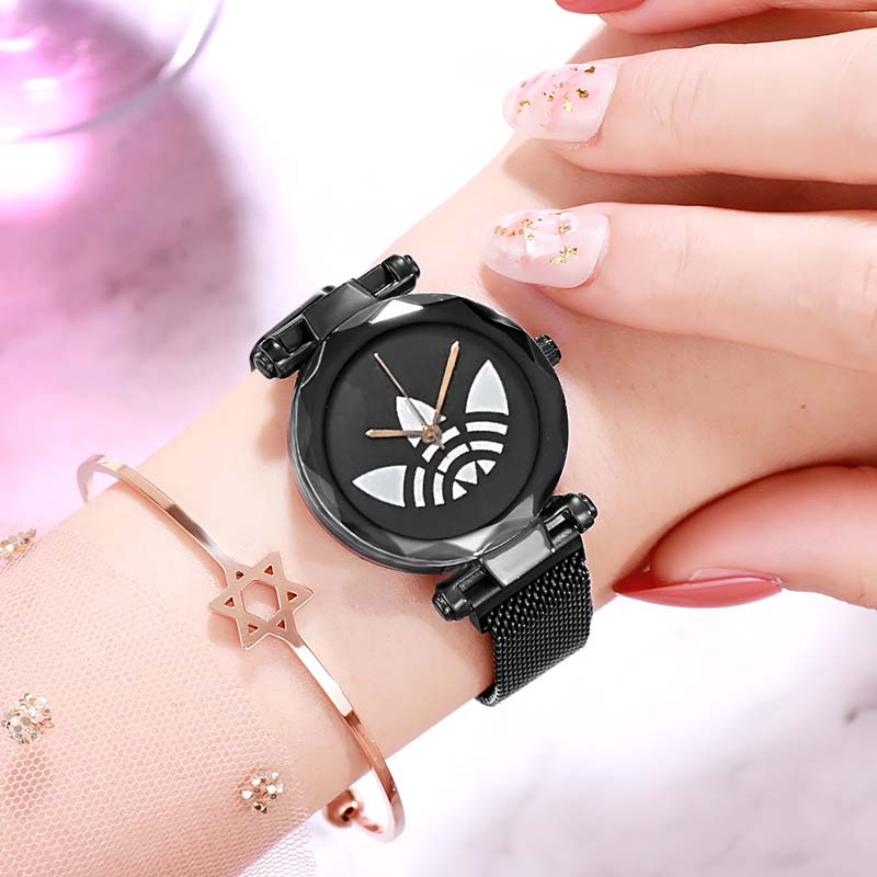 AD Brand  Women Watches Ladies Starry Sky Watch With Magnetic Strap Female Wristwatch Relogio Feminino Reloj Mujer Quartz Watch