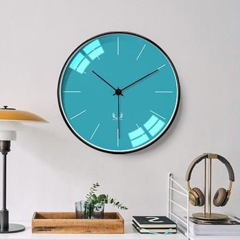 Nordic Personality Creative Wall Clock Modern Silent Clock Living Room Grote Wandklok Fashion Modern Simple Home Decor 6LS03