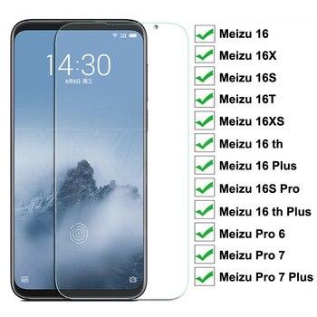 Перейти на Алиэкспресс и купить 9H закаленное стекло для Meizu 16 Plus 16X 16XS 16T 16 th Plus 16S Pro Защитная пленка для экрана Pro 6 7 Plus