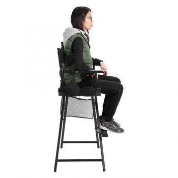 Professional Makeup Artist Directors Chair Wood Lightweight Black Foldable Chair 6