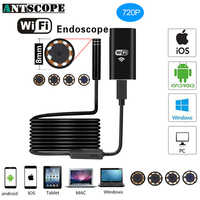 Caméra HD d'endoscope de Wifi d'antscope 8mm pour l'endoscope d'android iPhone 2 5 10M 720P caméra imperméable de tuyau d'inspection d'endoscope 19