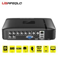 AHD/N DVR 4 canaux 8 canaux CCTV AHD DVR AHD N hybride DVR/1080P NVR 4in1 enregistreur vidéo pour AHD caméra IP caméra analogique